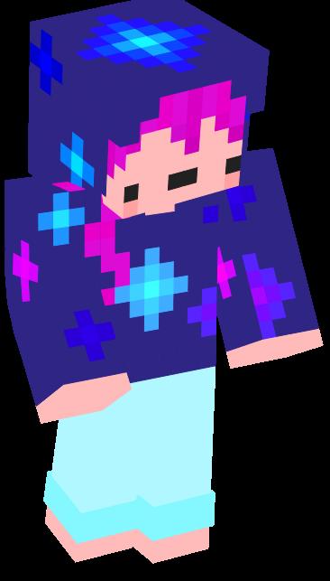 Galaxy Minecraft Skin for Derpy Girls