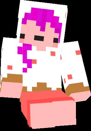 HelloDerpy's minecraft cake derp girl skin.