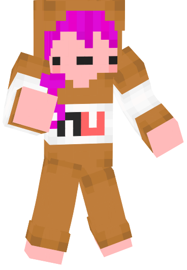 Cute Nutella Minecraft Skin for Girls