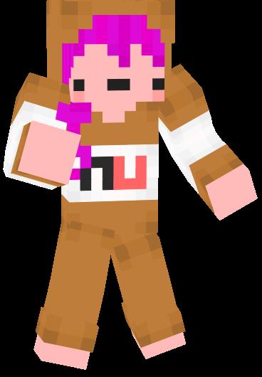 Cute Nutella Minecraft Skin for Girls