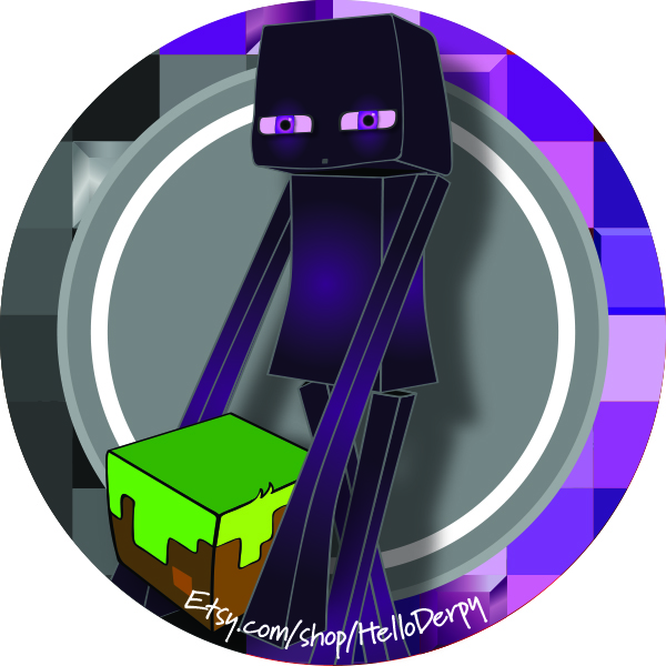 Enderman Cupcake Topper Minecraft Inspired by HelloDerpy.com
