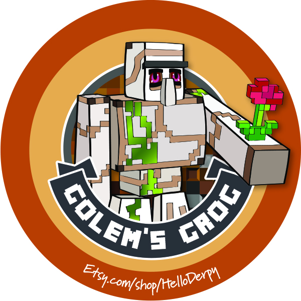 Minecraft inspired free printable Golem drinking straw accent for your Minecraft Brewing Stand