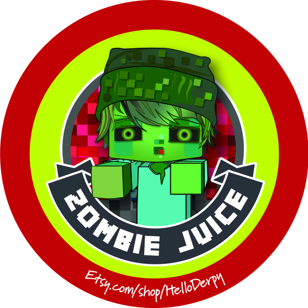 Minecraft inspired free printable Zombie drinking straw accent for your Minecraft Brewing Stand