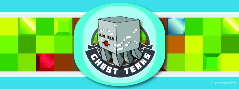 Minecraft inspired free printable Ghast Tears 2 Liter Soda Bottle Label for your Minecraft Brewing Stand