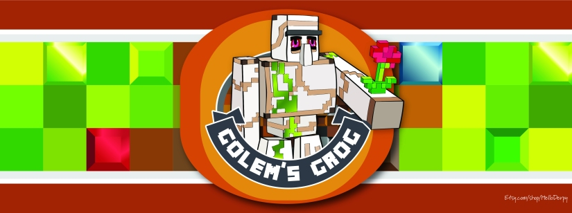 Minecraft inspired free printable Golem's Grog 2 Liter Soda Bottle Label for your Minecraft Brewing Stand